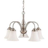Nuvo Lighting 60-1902 5 Light Dupont Fluorescent Chandelier