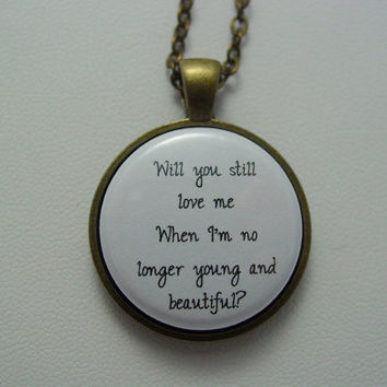 Your Favorite Lana Del Rey Lyrics Quote Necklace Antique Brass Antique Silver Your Choice