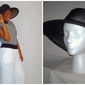 Vintage Sheer Black Hat