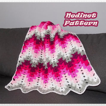 Crochet blanket pattern, Colorfull Grandma Spiked stitch Blanket crochet pattern, Instant Download pdf pattern