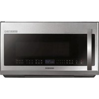 Samsung, CHEF Collection 2.1 cu. ft. Over the Range Microwave in Stainless Steel with Sensor Cooking, ME21H9900AS at The Home Depot - Tablet