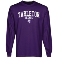 Tarleton State Texans Team Arch Long Sleeve T-Shirt - Purple