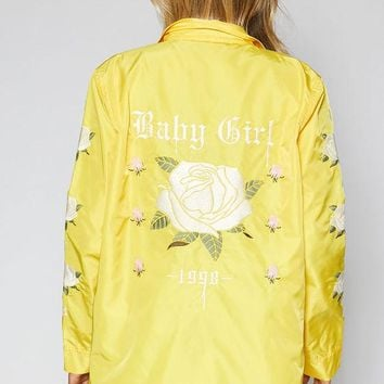 DCCKYB5 Kendall and Kylie Embroidered Coach Jacket