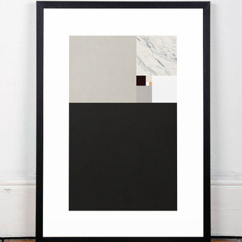 Modern art print, Abstract wall art, Minimalist poster, Chic decor, Wall print, Wall art, Scandinavian print, Geometric art print, A3 poster