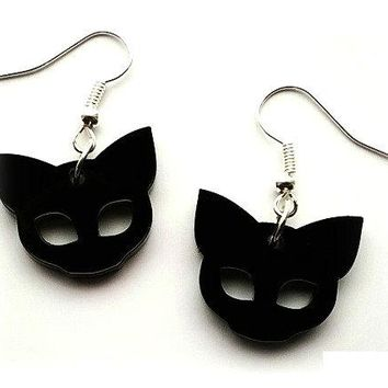 Cute NuGoth Kawaii Harajuku Black Cat Earrings