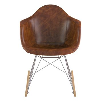 Mid Century Rocker Chair  Weathered Whiskey