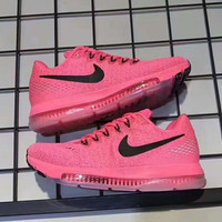 NIKE zoom sports sneakers shoes pink -black hook H-PSXY