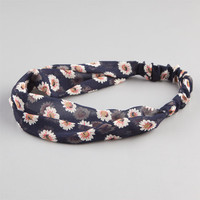 Full Tilt Daisy Chiffon Headband Navy One Size For Women 23456921001
