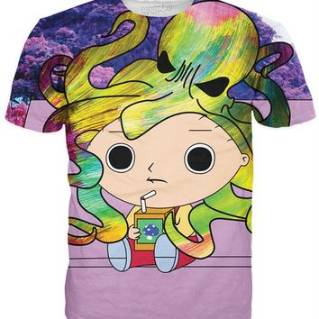 Stewie Tripping T-Shirt | Tees from RageOn