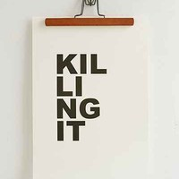 Cult Paper Killing It Art Print - Urban Outfitters