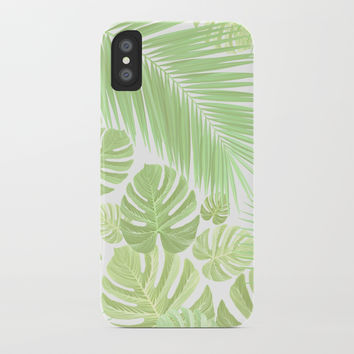Pastel colors jungle iPhone Case by exobiology