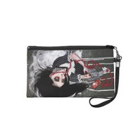 without a heartbeat wristlet clutches from Zazzle.com