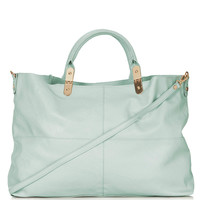 Suede Backed Tote Bag