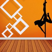 Wall Decal Vinyl Sticker Modern Pole Dance Salon Beautiful Woman Pilon V360