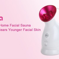 KINGA Nano Ionic Facial Steamer Hot Mist Moisturizing Cleaning Pores clear blackheads Acne Interior Humidifier Home Sauna SPA System Skin Care Facial Atomizer...