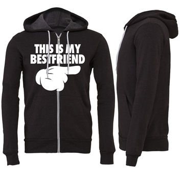 This Is My Bestfriend Zipper Hoodie