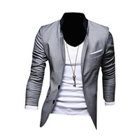 Jeansian Men's Fashion Jacket Outerwear Tops Blazer