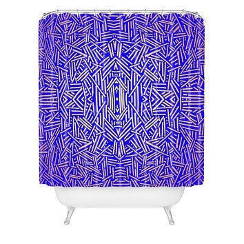 Jacqueline Maldonado Radiate Gold Royal Shower Curtain