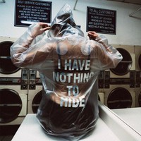 """Nothing to Hide"" Transparent Rain Jacket by Jani Richell"