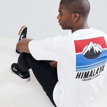 Only & Sons Boxy Fit T-Shirt With Front And Back Print at asos.com