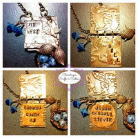 My Nest Family Personalized Handstamped Journal Pendant