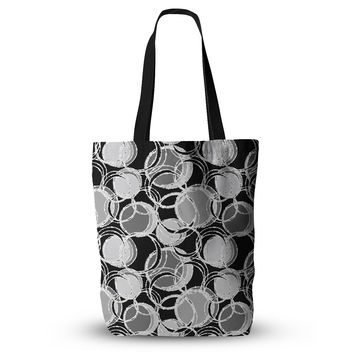 "Julia Grifol ""Simple Grey Circles"" Black Gray Everything Tote Bag"