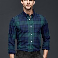 Gap Men Blackwatch Oxford Shirt