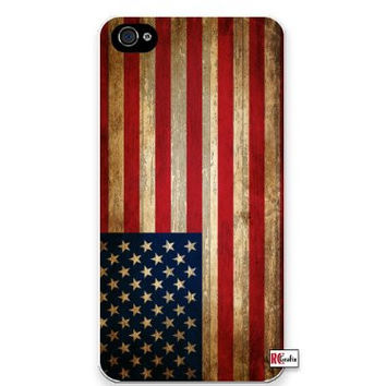 Premium Direct Print Distressed USA American National Flag iphone 6 Quality Hard Snap On Case for iphone 6/Apple iphone 6 - AT&T Sprint Verizon - White Case PLUS Bonus RCGRafix The Best Iphone Business Productivity Apps Review Guide