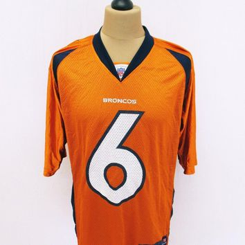 Denver Broncos NFL American Football Kit Top Jersey T-Shirt Medium Outsized