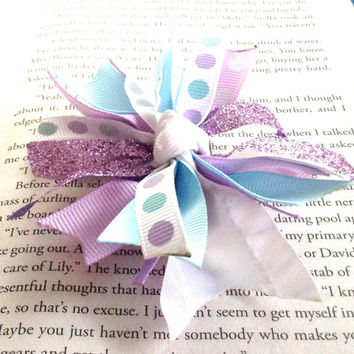 Purples and Blues Hair Bow