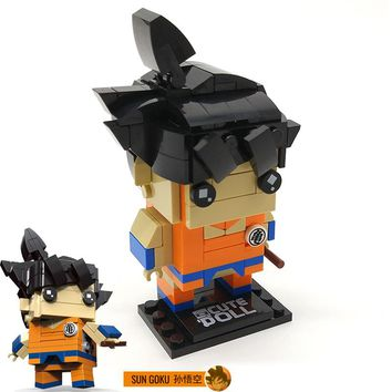 Decool Brickheadz Dragon Ball Z SuperHero IronMan Marvel Batman ANT MAN Action Figures Building Block Bricks Heads legoings Toys