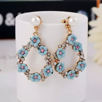 New Arrival Gift Jewelry Shiny Stylish Earring Pastoral Style Floral Earrings Accessory Hot Sale Ring [6586158215]