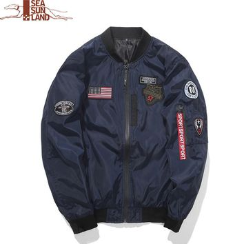 Men's Bomber Jackets Hip Hop Designs Male Pilot Flight Jacket Coat Men Jackets Plus Size 4XL Air Force Baseball Coats Clothing