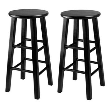 "Set of 2, Counter Stool, 24"" Square Leg Stools"