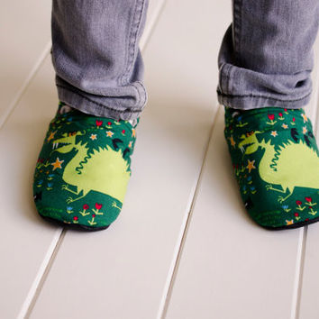 "Organic ""Dragon"" Shoes - NB to 4T"