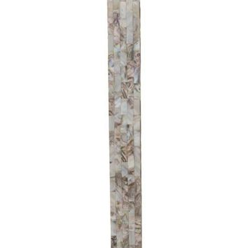 Lateen Glam Table Lamp Mother of Pearl Finish White