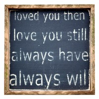 Loved You Then Wall Decor
