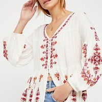 Women's Free People Arianna Embroidered Tunic