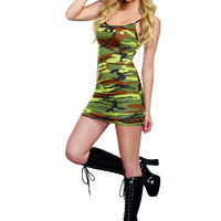 Camo Dress Sexy Army Costume