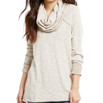 Free People Beach Cotton Cowl Neck Pullover Sweater | Dillards
