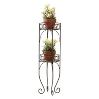 Flower Plant Stand-Scrolled 2 Tier