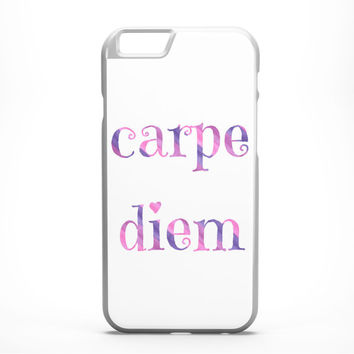 Quote iPhone Case - FREE Shipping to USA dye sublimation carpe diem seize the day typography art print pink and purple ipod cases iphone 4