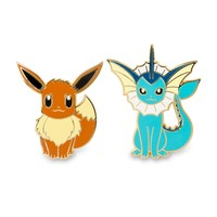 Eevee and Vaporeon Pokémon Pins (Evo 2 Pack)