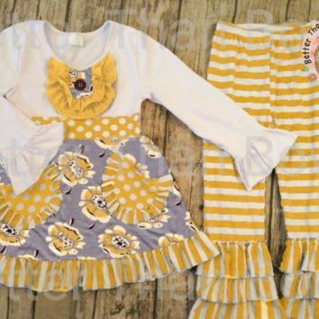 Yellow and Gray Floral 2pc set*Preorder 0311*Closes: July 27th at 8pm
