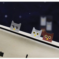 Smile sticky memo notes bookmark tabs - owl