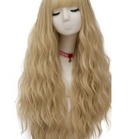 Blonde Long Wavy Synthetic Wefted Cap Wig WW013 - SYNTHETIC WIGS - DonaLoveHair