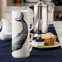 Sperm Whale Stacking Cups | Dinnerware | Stonewall Kitchen - Specialty Foods, Gifts, Gift Baskets, Kitchenware and Kitchen Accessories, Tableware, Home and Garden Décor and Accessories
