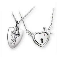 Couples concentric lock Lover Pendant Necklaces For Women's and Men's 316L Stainless Jewelry Heart Necklace-in Pendant Necklaces from Jewelry & Accessories on Aliexpress.com | Alibaba Group