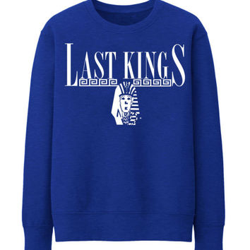 Last Kings Tyler hip hop hipster rap Sweatshirt Top TYGA Men Boys T Shirt - BLUE