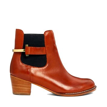 Ted Baker Jureo Dark Tan Heeled Chelsea Boot -